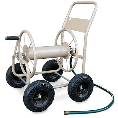 Liberty Garden™ Four Wheel Industrial Hose Cart, Tan (870-A)