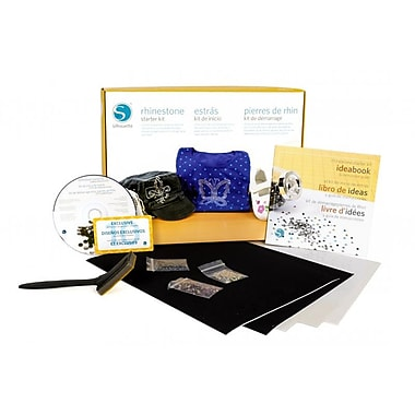 Silhouette Rhinestone Starter Kit, Assorted (KIT-RHINE-3T)