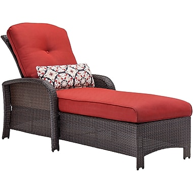 Hanover Outdoor Furniture Strathmere Outdoor Chaise, Crimson Red (STRATHCHSRED)