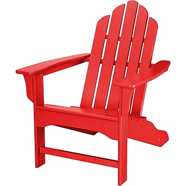Hanover Outdoor Furniture All-Weather Contoured Adirondack Chair, Sunset Red (HVLNA10SR)