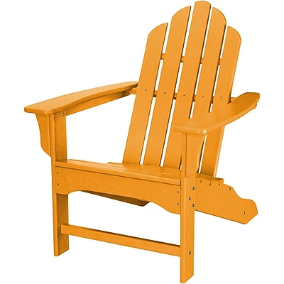 Hanover Outdoor Contoured Adirondack Chair, Tangerine, All Weather (HVLNA10TA)