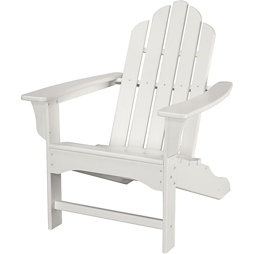 Hanover Outdoor Furniture All-Weather Contoured Adirondack Chair, White (HVLNA10WH)