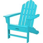Hanover Outdoor Furniture All-Weather Contoured Adirondack Chair with Hideaway Ottoman, Aruba (HVLNA15AR)