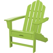 Hanover Outdoor Contoured Adirondack Chair with Hideaway Ottoman, All-Weather, Lime (HVLNA15LI)