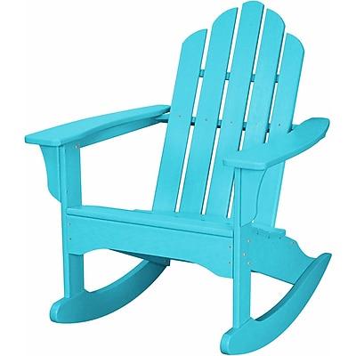 Hanover Outdoor Adirondack Rocking Chair, All Weather, Aruba (HVLNR10AR)
