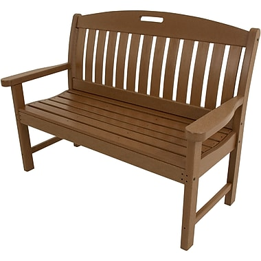 Hanover Outdoor Avalon Porch Bench in Teak, All Weather, 48
