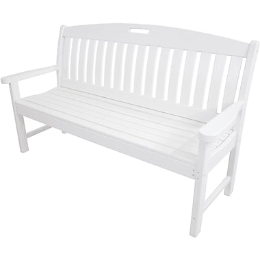 Hanover Outdoor Furniture Avalon All Weather Porch Bench, Built to Withstand a Range of Climates (HVNB60WH)