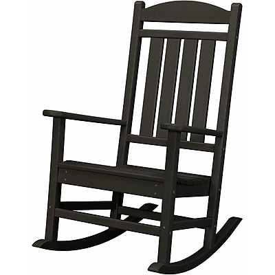 Hanover Outdoor Furniture All-Weather Pineapple Cay Porch Rocker - Black