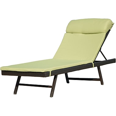Hanover Outdoor Furniture Orleans 2-Piece Chaise Lounge Chair, One Woven Chaise with Cushion (ORLEANS2PCCHS)
