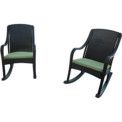 Hanover Outdoor Orleans Rocking Chair Set, 4-Piece (ORLEANS4PCRKR)