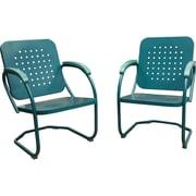 Hanover Outdoor Furniture Retro Patio Set, 2 Piece (RETRO2PC) by