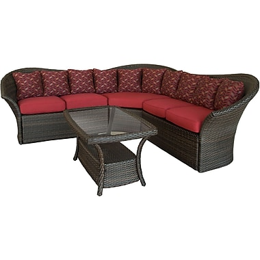 Hanover Outdoor Furniture Versa 4-Piece Sectional Seating Set, Each (VERSA4PC)