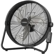"Lasko 20"" High Velocity Floor Fan with QuickMount Wall-Mount and Remote Control, Black"
