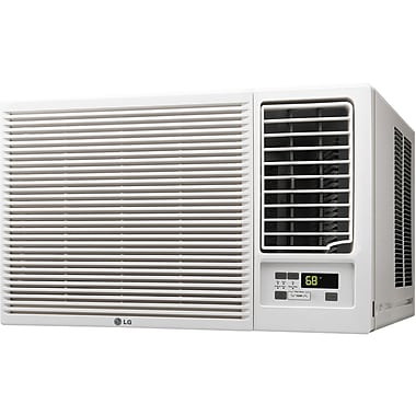 LG 12,000BTU Slide in-Out Chassis Air Conditioner with 11,200BTU Supplemental Heat Function, 230V (LW1215HR)