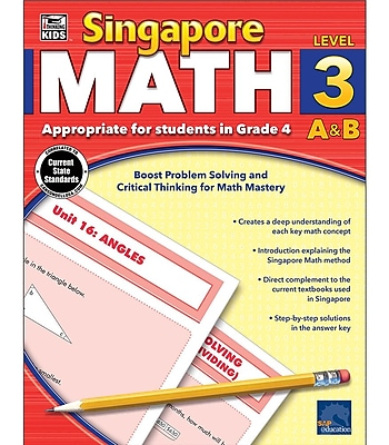 Thinking Kids Singapore Math Workbook for Grade 4