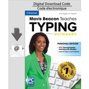 Logiciel de dactylo Mavis Beacon Teaches Typing Powered by UltraKey, version personnelle pour PC, anglais (Téléchargement)