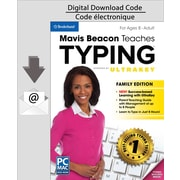 Logiciel de dactylo Mavis Beacon Teaches Typing Powered by UltraKey, version familiale pour PC, anglais (Téléchargement)