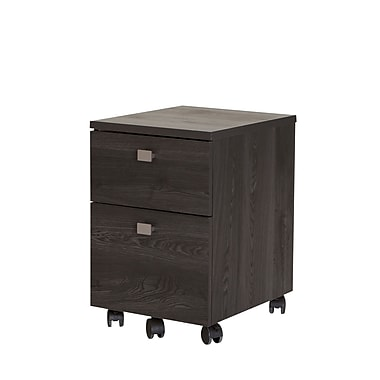 South Shore Interface 2 Drawer Mobile File Cabinet, Grey Oak (9026691)