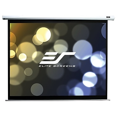 Elite Screens – Écran de projection NTSC Spectrum ELECTRIC100V, boîtier blanc