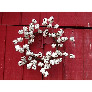 Mills Floral Faux Cotton Wreath