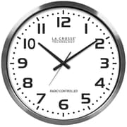La Crosse XL 20'' Atomic Aluminum Clock