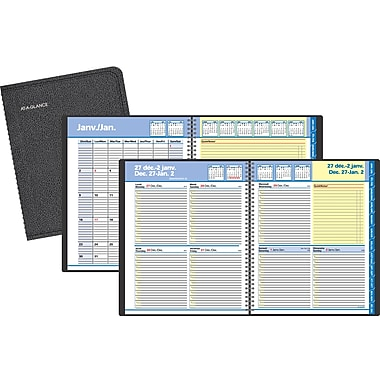 AT-A-GLANCE® 2018 Quicknotes® Recycled Weekly/Monthly Appointment Book, 9-7/8