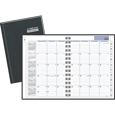 AT-A-GLANCE® DayMinder® Premiere® 2018 Recycled Monthly Planner, 11-7/8