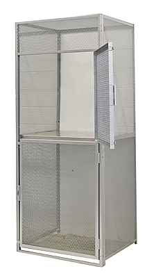 Hallowell Bulk 2 Tier 1 Wide Storage Locker; 90'' H x 36'' W x 48'' D