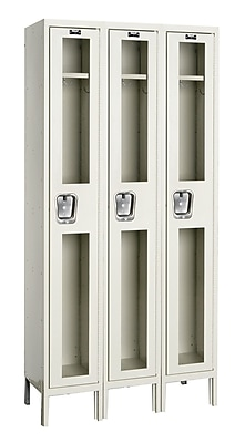 Hallowell Safety-View 1 Tier 3 Wide Safety Locker; 36''W x 15''D x 78''H