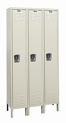 Hallowell Galvanite 1 Tier 3 Wide School Locker; 78'' H x 36'' W x 12'' D
