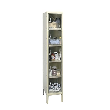 Hallowell Safety-View 5 Tier 1 Wide Safety Locker; 12''W x 18''D x 66''H