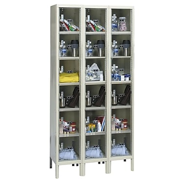 Hallowell Safety-View 6 Tier 3 Wide Safety Locker; 36''W x 18''D x 78''H