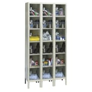 Hallowell Safety-View 6 Tier 3 Wide Safety Locker; 36''W x 12''D x 78''H