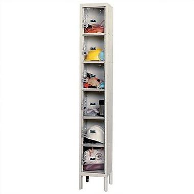 Hallowell 6 Tier 1 Wide Employee lockers; 12'' x 12'' x 72''