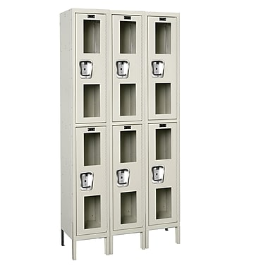 Hallowell Safety-View 2 Tier 3 Wide Safety Locker; 36''W x 15''D x 78''H