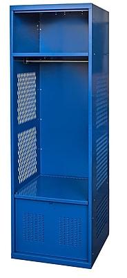 Hallowell Rookie 2 Tier 1 Wide Gym Locker; 72'' H x 24'' W x 22'' D