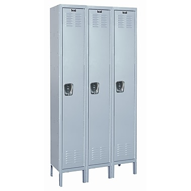 Hallowell MedSafe 1 Tier 3 Wide School Locker; 78'' H x 36'' W x 18'' D