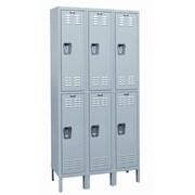 Hallowell MedSafe 2 Tier 3 Wide School Locker; 78'' H x 36'' W x 18'' D
