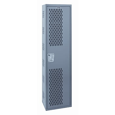 Hallowell Welded 1 Tier 1 Wide Gym Locker; 72'' H x 12'' W x 18'' D