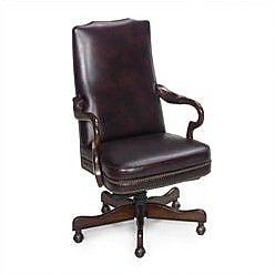 Seven Seas Seating Evanston Leather Executive Chair; Empire Egyptian Brown