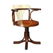 Authentic Models Purser's Low-Back Bankers Chair; Ivory