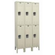 Hallowell Galvanite 2 Tier 3 Wide School Locker; 78'' H x 36'' W x 18'' D