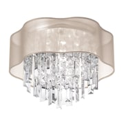 Radionic Hi Tech Illusion 3-Light Flush Mount; Oyster