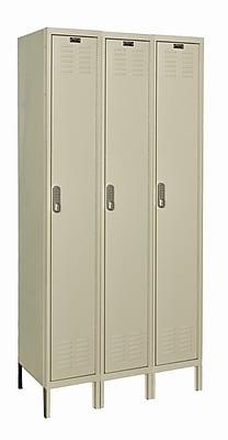 Hallowell DigiTech 1 Tier 3 Wide School Locker; 78'' H x 36'' W x 15'' D