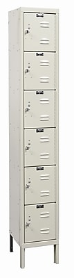 Hallowell Galvanite 6 Tier 1 Wide Employee Locker; 78'' H x 12'' W x 18'' D