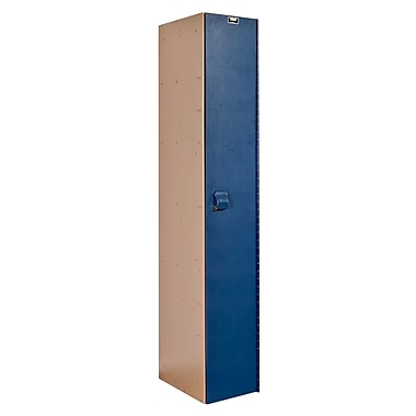 Hallowell AquaMax 1 Tier 1 Wide School Locker; Deep Blue