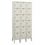 Hallowell Galvanite 6 Tier 3 Wide Employee Locker; 78'' H x 36'' W x 15'' D