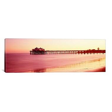 iCanvas Panoramic ''Malibu Pier, Malibu, California'' Photographic Print on Canvas