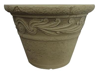 Griffith Creek Designs Charleston Fiber Clay Pot Planter; Sunwash White
