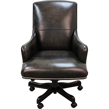 Parker House Leather Executive Chair; Smoke Wipe